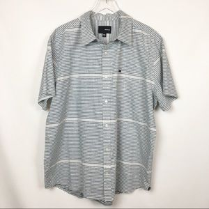 Hurley   Blue green Button Stripped Shirt  Casual
